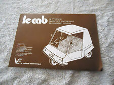 Vintage Original Le Cab Sales Brochure Battery Powered Written in French