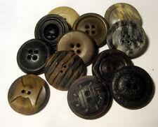 "Lot 12 Antique Composition Buttons ~ Patterns Pressed Colors 1"" + VARIETY Vint"