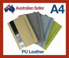 A4 Lined Paper/PU Leather/Elastic/Vintage Diary Notebook/Journal/Hardcover Matte
