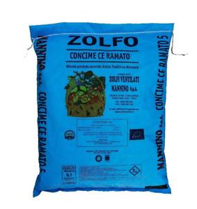 Mannino ZOLFO RAMATO 3% Concime Agricolo Funghicida Vite Rose 5 kg