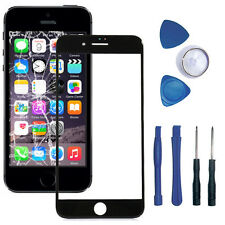 iPhone 5 5S Front Scheibe Frontglas Displayglas Touchglas Reparaturset Schwarz