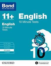 Bond 11 English: 10 Minute Tests: 8-9 years by Lindsay, Sarah Paperback Boo