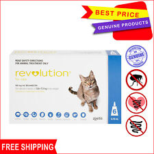 Revolution for Cats 2.6 - 7.5 Kg Blue pack 6 Pipettes AU Stock