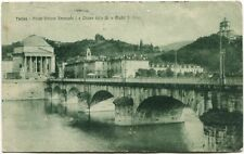 1920 Torino Ponte Vittorio Emanuele I Chiesa Gran Madre Palazzi FP B/N VG