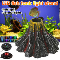 LED Fish Tank Red/Colorful Lights Lamp Stand Aquarium Submersible Light  W