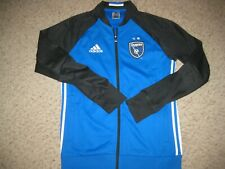 Vintage San Jose Earthquakes Adidas MLS Soccer Full Zip Track Jacket M FIFA Team