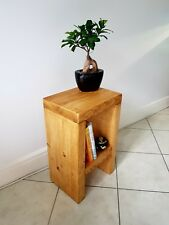 Rustic Bedside Table/Side Table/Small Sofa Table/End Table/Solid Pine Wood Table