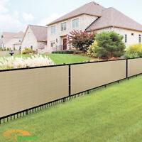 Custom 8FT Beige Vinyl Coated Fence 100% Privacy Commercial Home Garden Screen