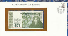 Banknotes of All Nations Ireland 1982 1 pound P 70c Unc Birthday 741987