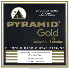 Pyramid Gold Chrome Nickel Flatwound L/SC 040-100