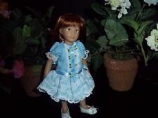 Kidz n Cats Mini Dolls Roses and Lace Easter Dress in Blue