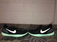 Nike Solarsoft Run Mens Athletic Running Training Shoes Size 11 Black Blue White