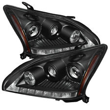 Fit Lexus 04-09 RX330 RX350 SUV Black DRL LED Projector Headlights Lamps Sport