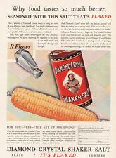 1929 Diamond Crystal Salt: Salt That's Flaked Vintage Print Ad