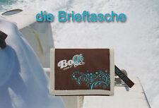BoGi Bag Stoff Geldbörse Portemonnaie Brieftasche Etuis Check In braun türkis