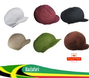 Rasta Rastafari Dreadlocks Reggae Dreads Hat Cap Jamaica Marley 100% Cotton LOT