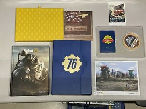 Fallout 76 -The Collectors Platinum Edition (Blue Box) Strategy Guide,Poster etc