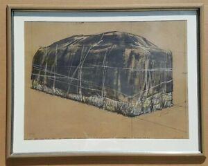 CHRISTO Originalfarbserigrafie, handsigniert, Nr 59/200 Packed Hay Galerierahmen