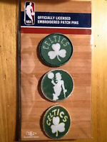 Official Licensed NBA Boston Celtics Embroidered Patch Pin Set