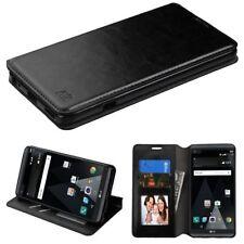 FOR LG V20 LEATHER WALLET FLIP CASE PHONE HYBRID CARD SLOT COVER Black