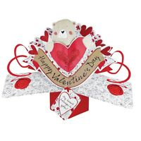 Happy Valentine's Day Pop-Up Cute Bear Greeting Card 3D Pop Up Cards