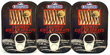 3 Tins RügenFisch Kieler Sprotten (Smoked Sprats) 3x110g