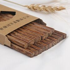 10 Pairs 25cm Chopsticks Wood Chinese Wooden Japanese Style Kuaizi Gift Unique