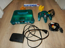 PAL N64: Funtastic Ice Blue Nintendo 64 Console System with controller aqua