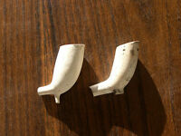VINTAGE CLAY PIPE BOWELS ONLY NO STEM AS FOUND IN GOOD CONDITION.