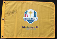 MARTIN KAYMER SIGNED 2014 EUROPE RYDER CUP GOLF PIN FLAG GLENEAGLES COA J1