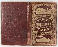 Phelp's Travelers' Guide through the United States 1853 Railroad, Canal, Routes