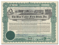 Blue Valley Farm Show, Inc. Stock Certificate (Pennsylvania)