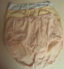 Three Dixie Belle Lingerie Nylon Briefs Size 7 Blue Pink and Beige Style 719