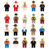 20x MiniFigures Professions Construction Building Use With Lego Educational Toy