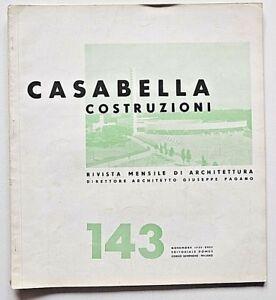 Casabella n 143 novembre 1939 Rivista Architettura Giuseppe Pagano Case Popolari