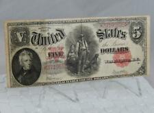 Series 1907 $5 Five Dollars United States US Note Woodchopper P0169