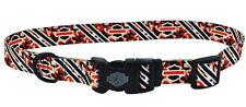 Harley-Davidson Orange Camo Bar & Shield Adjustable Dog Collar H6420 H HD412