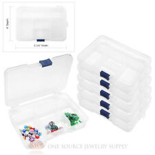 Plastic Storage Organizer 6 Piece 5 Compartment Beading Craft Findings Jewelry