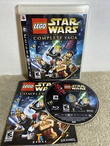 LEGO Star Wars: The Complete Saga (Sony PlayStation 3 2007) PS3 Tested w/ Manual