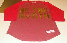 Toronto Raptors Raglan Shirt Basketball Mitchell Ness Red Gold XXL We The North
