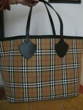 Authentic Burberry Giant Reversible Tote Bag Vintage Check