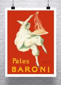 Pates Baroni Leonetto Cappiello Italian Pasta Advertising Canvas Giclee 24x32 in