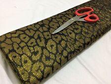 NEW*Black/Gold *Leopard* Brocade Fabric Weddings/Craft/Cushions Fabric*FREE P&P*