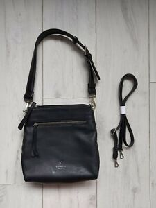 Fiorelli Bag Crossbody shoulder messenger black pu leather compartment grab