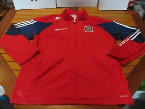 NWT NEW Adidas MLS Full-Zip Chicago Fire Track Jacket $80 Red XL P57639 Soccer