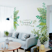 Removable Fresh Green leaves Stickers Wall Decals Vinyl Mural Art DIY Home Decor
