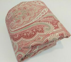 Custom Duvet Cover Full Double Rose Red Sage Paisley 80x84 Traditional PB Look