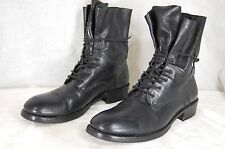 SHOTO  MEN LEATHER  BIKER RIDING COMBAT BOOTS   US 9 EU 42 .MADE IN ITALY