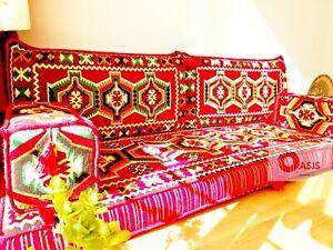 arabic majlis, red floor seating, bohemian furniture, jalsa, OFC 16