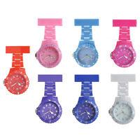 Nurse Watch Coloured Waterproof Plastic Brooch Tunic Fob Watch With FreeBattery